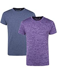 AMERICAN CREW Men's Sports Crew Neck T-Shirt Pack Of 2