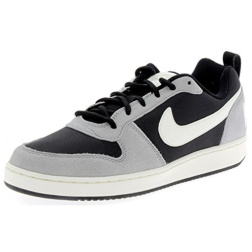 Nike Herren Court Borough Low Prem Basketballschuhe Schwarz (Black/sail/matte Silver)
