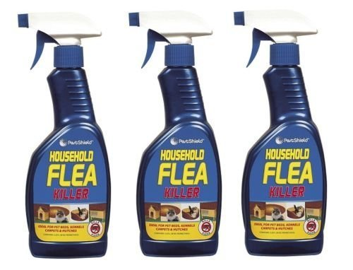 3 x Household Flea Killing Spray For Cat Dog Carpet Soft Furniture Bed 500ML New