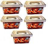 LED Teelichter inkl. Batterien 120 Stück in 5 Aufbewahrungsbox