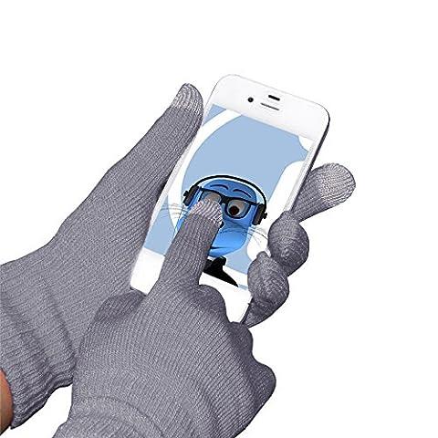 Grau Unisex Full Finger One Size TouchTip TouchScreen Winterhandschuhe für Acer Aspire R7-572 15.6 inch Touchscreen Notebook