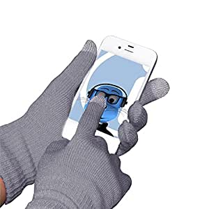 Grey Unisex Full Finger One Size TouchTip TouchScreen Winter Gloves For Apple iPhone 5S (2013) iPhone SE (2016)
