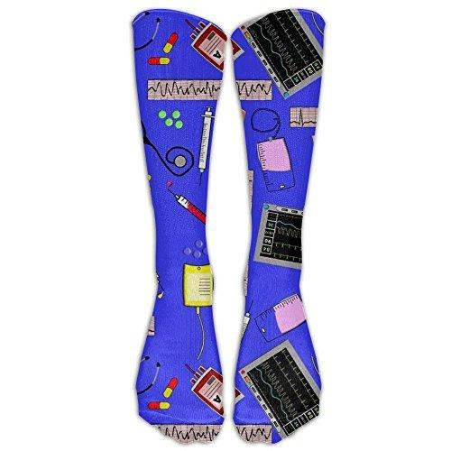 Preisvergleich Produktbild liuweidedian Hospital Nurse Theme Royal Blue Athletic Tube Stockings Women's Men's Classics Tube Socks Best Medical,  Nursing,  Travel & Flight Socks