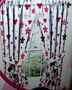 Minnie Mouse Curtains Window Panels   The Pair Measures 82 x 63 inch (208 x 160 cm)