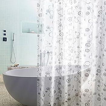 magnetisch beschwert textil duschvorhang weiss 240x200 cm. Black Bedroom Furniture Sets. Home Design Ideas