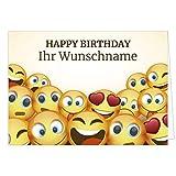 Große Glückwunschkarte zum Geburtstag XXL (DIN A4) PERSONALISIERT - mit Umschlag/Edle Design Klappkarte/Glückwunsch/Happy Birthday Geburtstagskarte/Extra Groß/Witzige Maxi Gruß-Karte