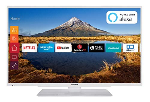 Telefunken XF43G511-W 109 cm (43 Zoll) Fernseher (Full HD, Triple Tuner, Smart TV, Prime Video) - Lcd-tv-tuner-box