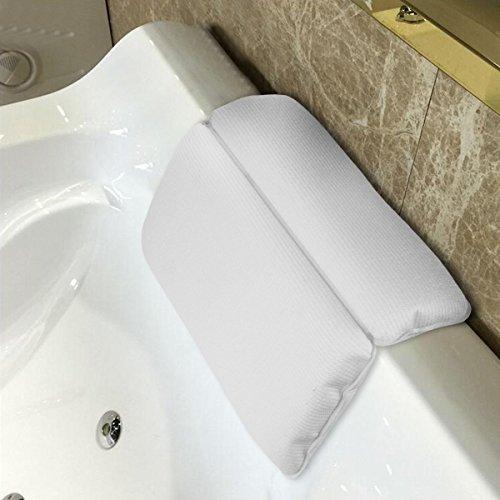 Spa Bad Kissen Whirlpool Relaxing Badezimmer Badewanne Kissen Kissen für Kopfstütze Home Spa weiß