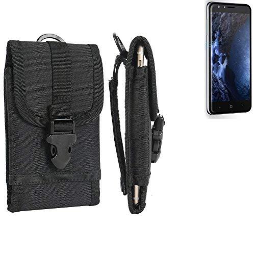 K-S-Trade Handyhülle für Doogee Y6 4G Gürteltasche Handytasche Gürtel Tasche Schutzhülle Robuste Handy Schutz Hülle Tasche Outdoor schwarz