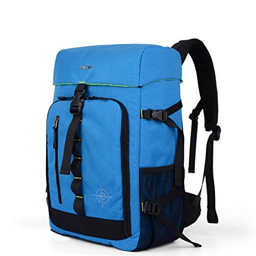 XSY Wasserdichter Fotorucksack SLR-Kamerarucksack Kameratasche für DSLR Laptop SLR Großen Raum Outdoor Reisen Rucksack Blau