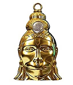 Ankita Gemstones Hanuman Chalisa Kavach with Gold Plated Chain, Yantra Protect from Enemies
