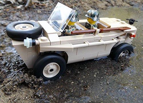 Modbrix 2188 – ☠ Bausteine VW Typ 166 Schwimmwagen XX Divison inkl. Custom Elite Wehrmacht Soldaten aus Lego© Teilen ☠ - 2