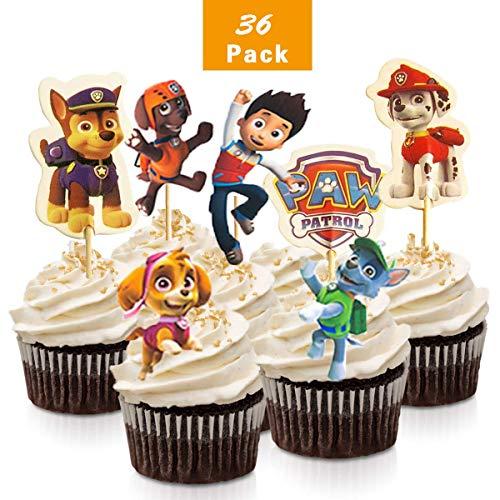 XUNKE 36 Stück Mario BROSS-Kuchen-Toppers Cupcake Toppers für Kinder Baby Party Geburtstag Party Kuchen Dekoration Supplies