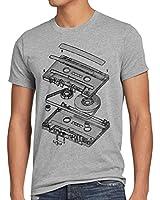 style3 DJ Tape Herren T-Shirt kassette 3D turntable retro