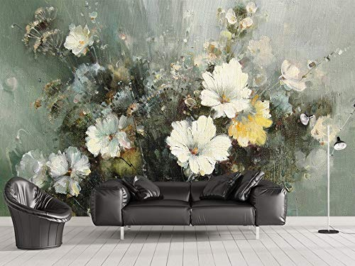 Personalizzato Qualsiasi Dimensione Pittura A Olio Europea Fiore Tv Divano Sfondo Pittura Murale Dipinti Decorativi Wall Sticker Home Decor Wallpaper Mu