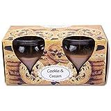 Duftkerzen im Glas 2er Pack, viele Düfte, Auswahl: Cookie - Cream