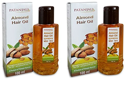 Patanjali Almond Hair Oil, 100ml (Pack of 2)  available at amazon for Rs.100
