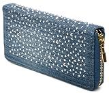 styleBREAKER Designer Jeans Geldbörse mit Strass Applikation 02040015, Variante-5