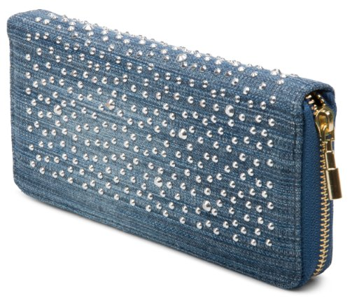 styleBREAKER Designer Jeans Geldbörse mit Strass Applikation 02040015, Variante-5 (5 Geldbörse)