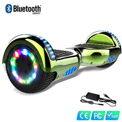 Watson Scooter 6,5 Pouces Electrique Bluetooth LED Flash Multicolore Balance Boards Hover Auto Equilibré HHHoverboarrrd Gyropode Self Balancing E-Skateboard 350W * 2