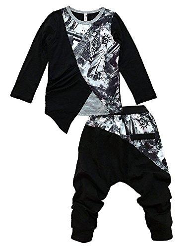 Tkria Ragazzi Outfit Abbigliamento Manica lunga maglietta + pantaloni lunghi 1 2 3 4 5 6 7Anni