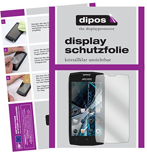 dipos I 2X Schutzfolie klar passend für Archos Sense 50 X Folie Displayschutzfolie