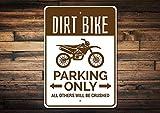 qidushop Dirt Bike Parkschild Dirt Bike Schild Dirt Bike Geschenk für Dirt Biker Schild Dirt Bike Dekor Dirt Bike Deko Dirt Biking Schild Deko Metallschilder für Frauen Wand Post Blechschild Geschenk