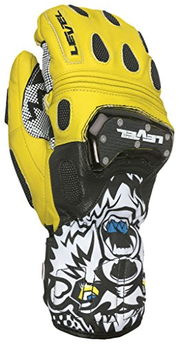 Level Herren SQ CF Mitt Handschuhe, Black/Yellow, 7.5
