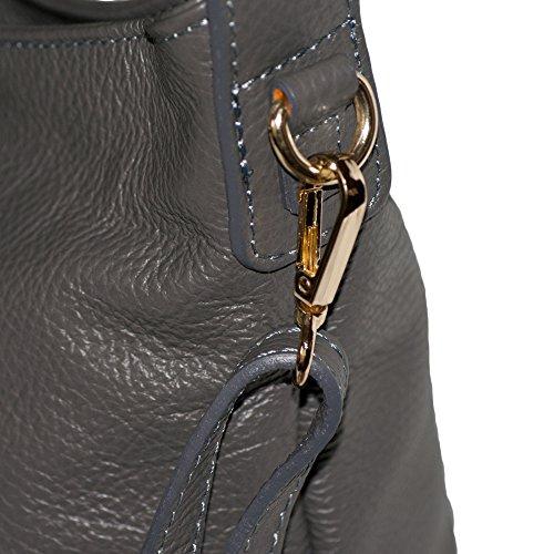 Dazoriginal schulter tasche damen Handtasche echtleder Schulterbeutel Lederhandtasche Umhängetasche (SCHWARZ) SCHWARZ