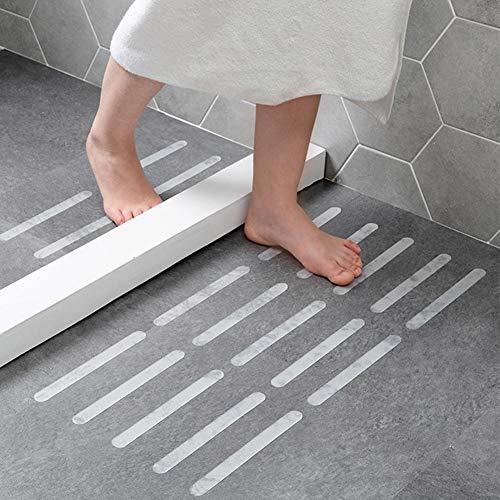 PER 12 Stücke Bad Anti-Rutsch-Gummistreifen selbstklebende Treppen Band Aufkleber Sicherheit rutschfeste Band für Küchen, Treppen, Toiletten, Bidets, Schwimmbäder, Fußböden