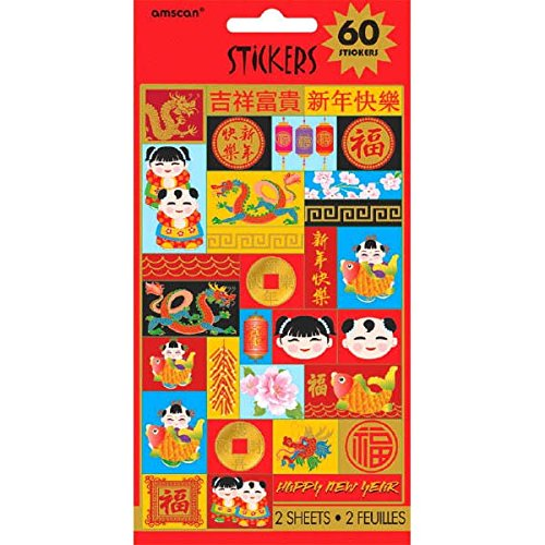 Factory Card And Party Outlet Chinese New Year Sticker 2 Sheets by Factory Card and Party Outlet