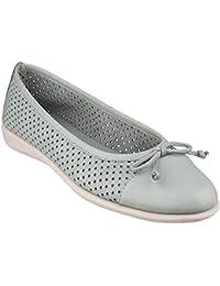 The Flexx - Zapatos estilo bailarina con diseño perforado para mujer