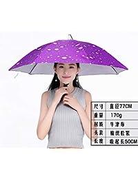CSCR Cappello Ombrello di Medie Dimensioni 77 cm di Diametro Fascia  Elastica Cappello per Cappellino Ombrello Pioggia per Pesca 57fdb86ea867