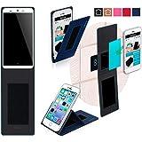 Funda para KingZone N5 en Azul - Innovadora Funda 4 en 1-Anti-Gravedad para Montaje en Pared, Soporte de Smartphone en Vehículos, Soporte de Smartphone - Protector Anti-Golpes para Coches y Paredes sin necesidad de herramientas o pegamento - Funda de Reboon para KingZone N5 Original