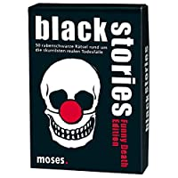moses-black-stories-Funny-Death-Edition-50-rabenschwarze-Rtsel-Das-Krimi-Kartenspiel Moses. Black Stories Funny Death Edition | 50 rabenschwarze Rätsel | Das Krimi Kartenspiel -