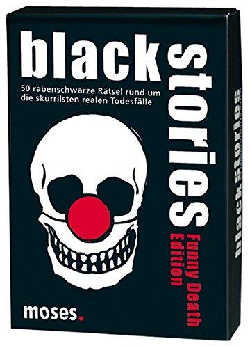 moses. black stories Funny Death Edition   50 rabenschwarze Rätsel   Das Krimi Kartenspiel