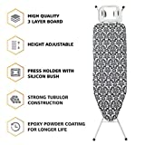 #2: Nile Ironing board- IRON IRON DESIGN | Presenting you Nile Ironing Board which is medium sized and user-friendly | It can be used on the bed | floor and dining table due to its light weight structure | iron board cover with pad | iron board at lowest price | iron board ironing table | iron board adjustable | The option of folding legs and hanging hook provide easy storage facility so once you are done ironing