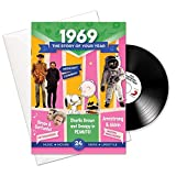 46th anniversario o compleanno regali; Libretto dell' anno, Musica e biglietto di auguri in uno; La storia della tua Anno -1969
