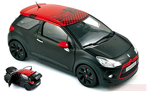 NOREV NV181543 Citroen DS3 Racing LOEB 2012 Black MATT & RED 1:18 DIE CAST Model