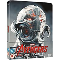 Avengers Age Of Ultron 3D Steelbook / Includes 2D Version / Lenticular Cover / Region Free Blu Ray.