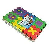 KICCOLY Tappeto Puzzle per Bambini | in Soffice Schiuma Eva | Tappetino Gioco per la Cameretta | a Quadri Multicolore 36pcs (A-Z & 0-9)