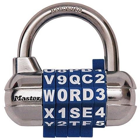 Password Plus Combination Lock, Hardened Steel Shackle, 2-1/2