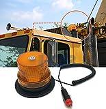 Mioke Lampeggiante a led luce di emergenza Girofaro 12V Super Bright Magnet Base Roof Top Beacon Lampeggiante Warning segnale intermittente per auto camion barca (blu) (arancione)