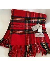 Royal Stewart rojo miocarditis comprobar fanmai rodilla manta de viaje manta - Highland Tweeds