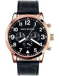 Mark Maddox-Reloj de cuarzo para hombre con cronógrafo para hombre (mecanismo de cuarzo, esfera negra y correa de PU negro HC3004-54(Reacondicionado Certificado)