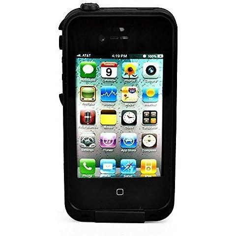 Casefashion® Cover Custodia Impermeabile Antiurto Dirtproof Snowproof Custodia Per Apple iPhone 4 4S - Nero