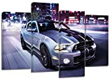 FORD MUSTANG/Lot de 4 Toile de Split x 81,3 x 50,8 cm