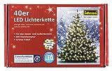 Idena LED Lichterkette 40er, ca. 12 m, für innen/außen, warm weiß, 8325056