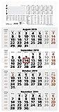 Zettler 959-0011 Wand-,Wandkalender Auslagen-Display und Bastelkalender 4-Monats-Planer rot 4M 1S