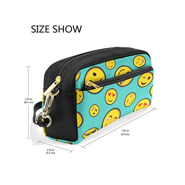 Estuche, diseño duradero Lápiz bolsa bolsa de maquillaje con gran capacidad Emoji de los estudiantes